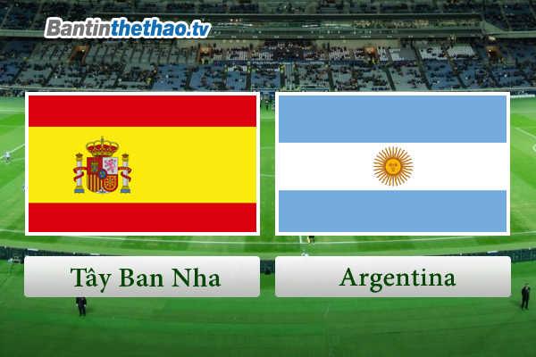 Link Sopcast, link xem trực tiếp live stream Tây Ban Nha TBN vs Argentina đêm nay 28/3/2018 Giao hữu quốc tế