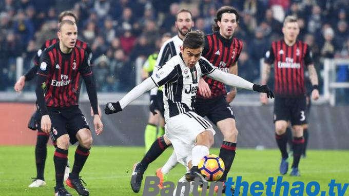 Juventus vs AC Milan đêm nay 1/4/2018 La Liga