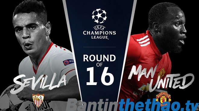MU vs Sevilla đêm nay 14/3/2018 Cup C1