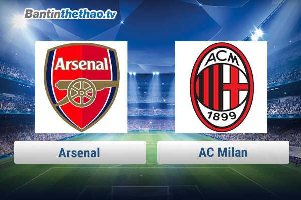 Link xem trực tiếp, link sopcast Arsenal vs AC Milan đêm nay 9/3/2018 Cúp C2 Europa League