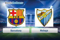 Link xem trực tiếp, link sopcast live stream Barca vs Malaga đêm nay 11/3/2018 La Liga