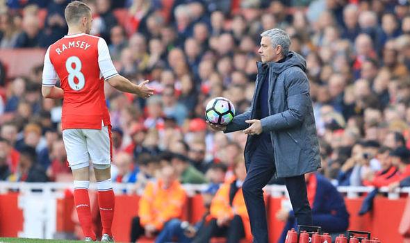 Mourinho hy vọng sẽ kéo được Ramsey sang MU