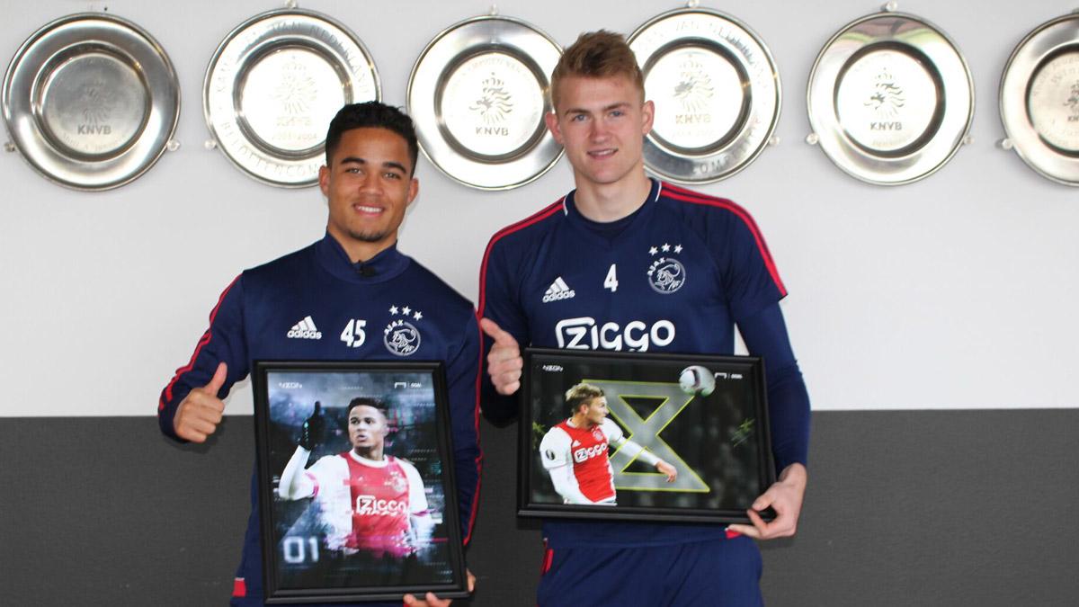 De Ligt và Kluivert thích Barca hơn là MU