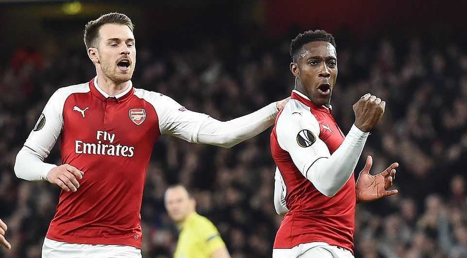 Welbeck lập cú đúp,  Arsenal thẳng tiến tứ kết Europa League