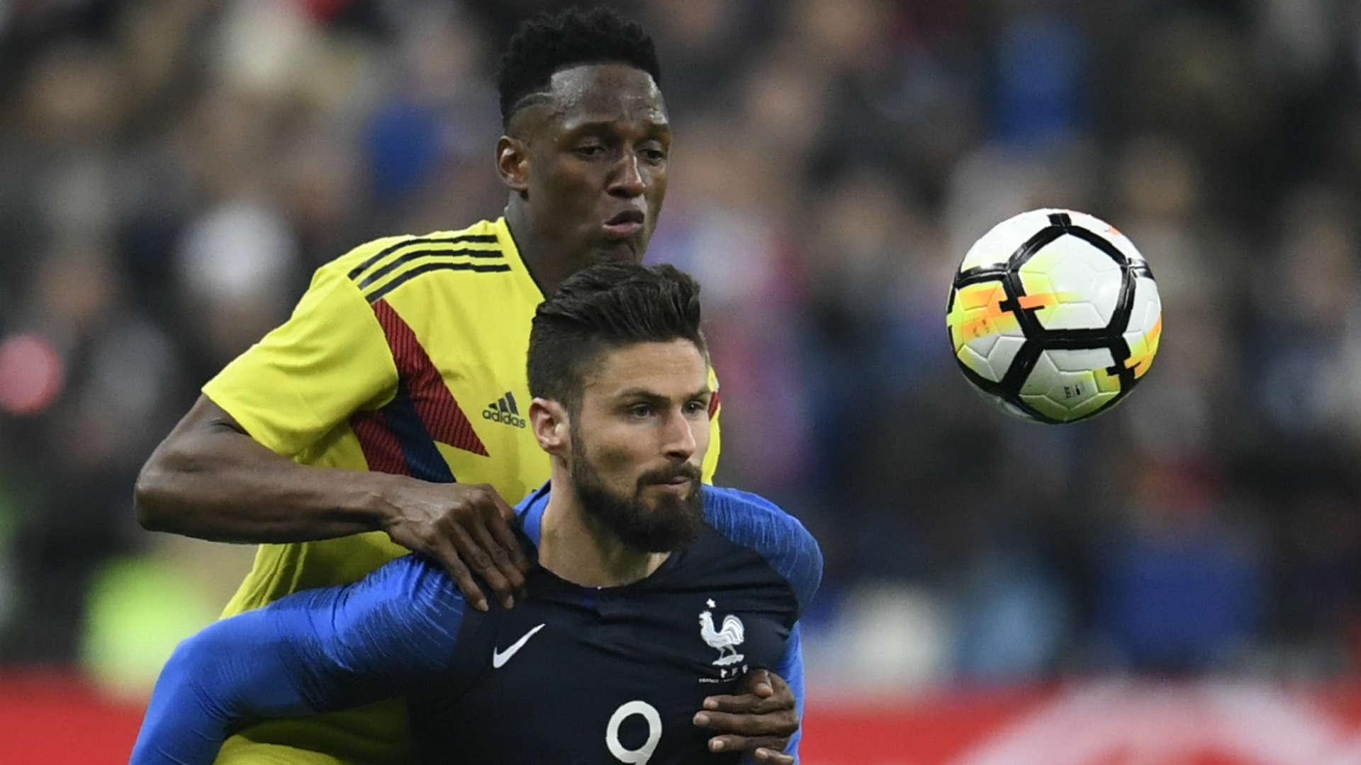 Pháp vừa thua Colombia