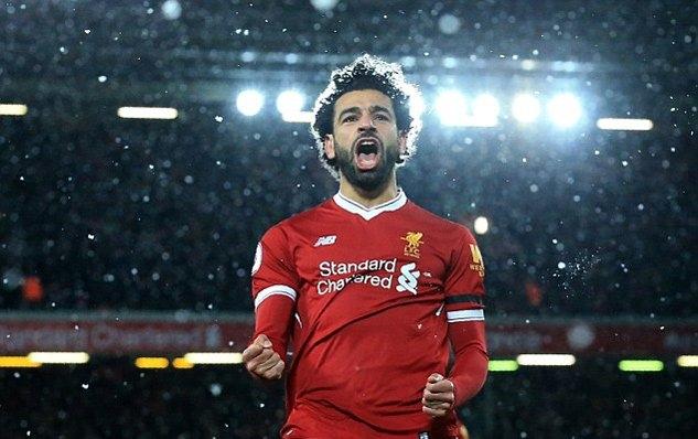 Salah tỏa sáng rực rỡ trong màu áo Liverpool