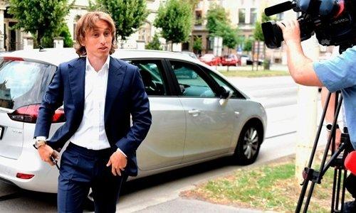 Modric tại phiên tòa ở Croatia vào tuần trước.
