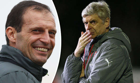 """Allegri đang là ứng viên nặng ký thay thế """"giáo sư"""" nắm Arsenal"""