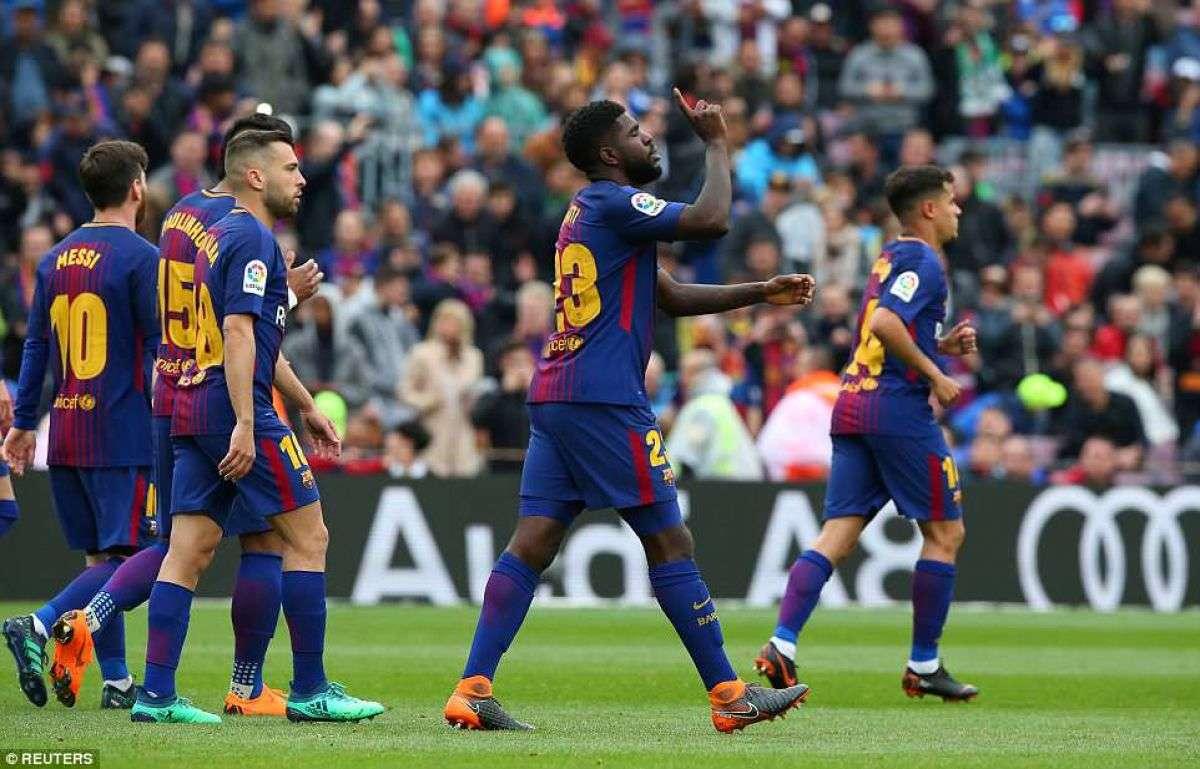 Barca đã đứng dậy sau nỗi đau mang tên Roma bằng chiến thắng 2-1 trước Valencia