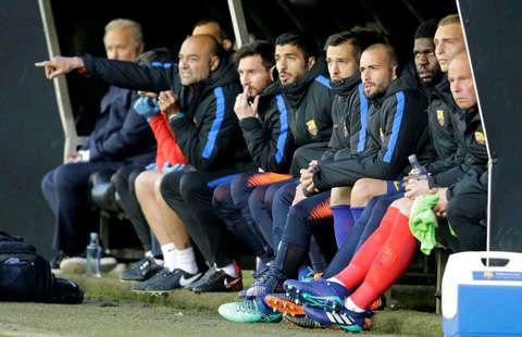 Dàn dự bị của Barca ở trận gặp Celta