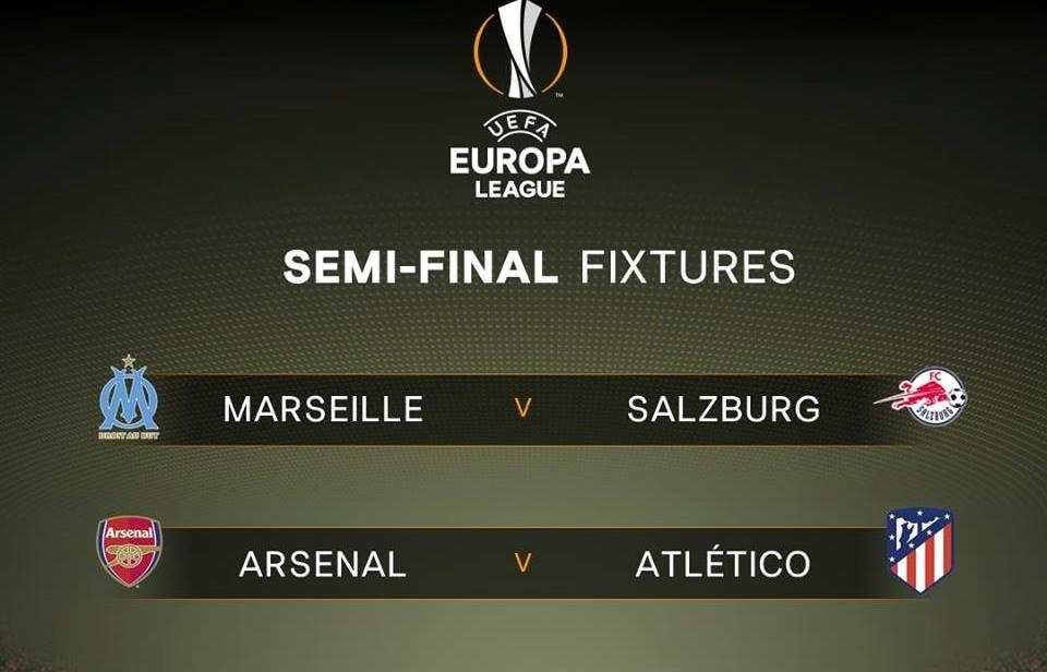 Kết quả bốc thăm: Arsenal và Marseille sẽ đá trận lượt đi trên sân nhà.