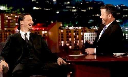 Ibrahimovic tự tin suốt buổi talk show với MC nổi tiếng Jimmy Kimmel
