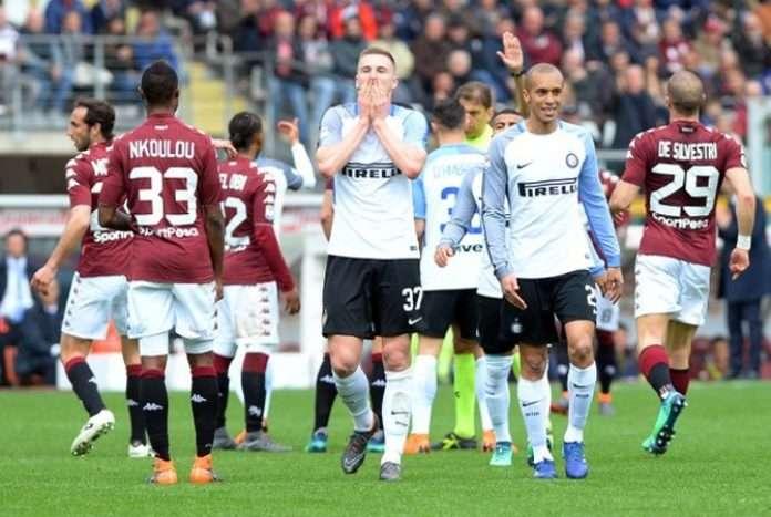 Inter bị đánh bật khỏi Top 4 Serie A sau trận thua Torino vòng trước