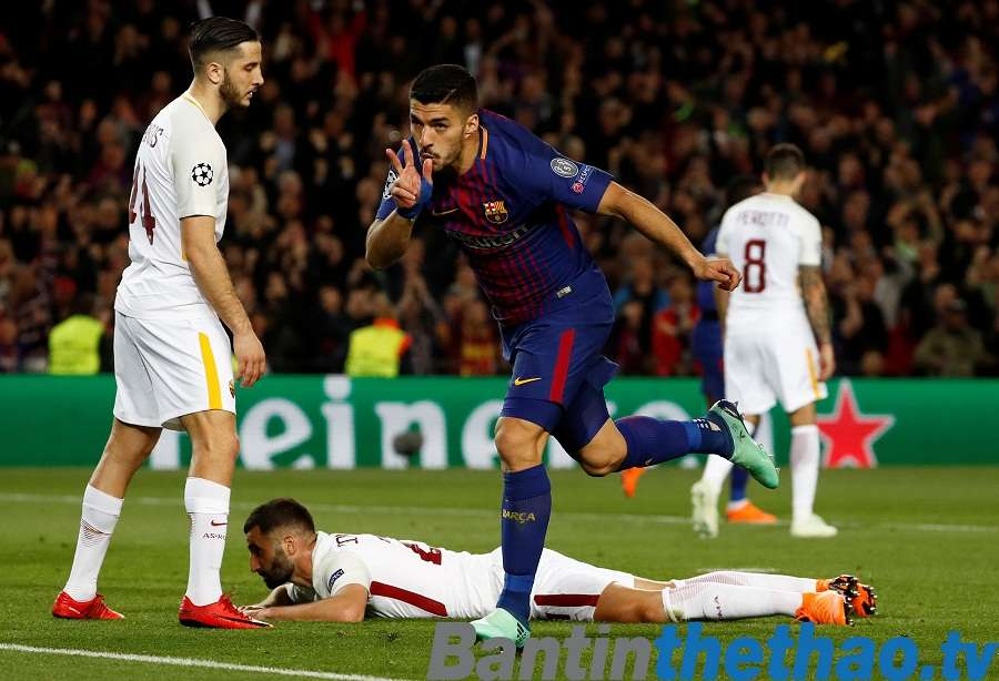 Barca vs Roma đêm nay 11/4/2018 Tứ kết Cúp C1