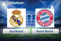 Link xem trực tiếp, link sopcast live stream Real vs Bayern đêm nay 26/4/2018 Bán kết Cúp C1