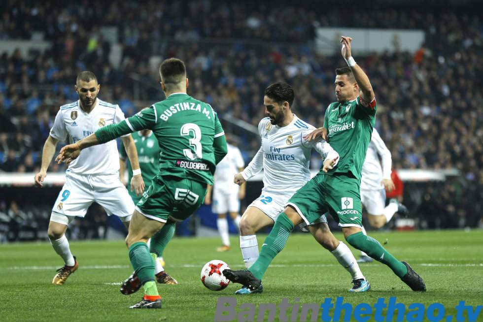 Real vs Leganes tối nay 28/4/2018 La Liga