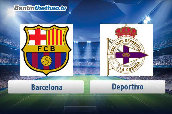 Link xem trực tiếp, link sopcast live stream Barca vs Deportivo tối nay 30/4/2018 La Liga