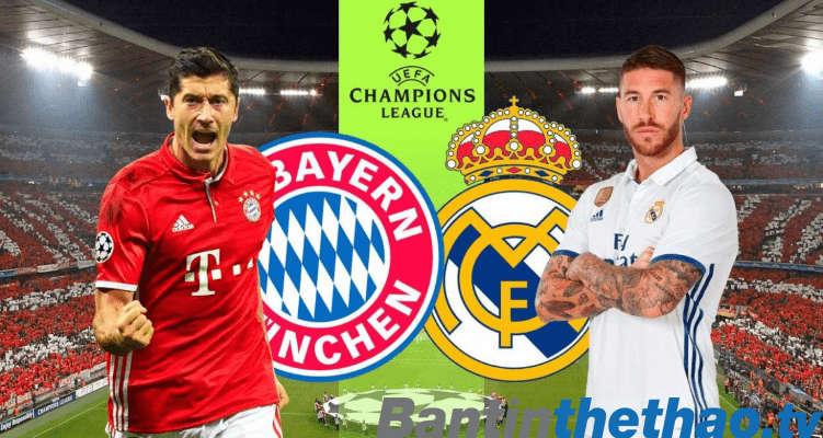 Real vs Bayern đêm nay 26/4/2018 Bán kết Cúp C1