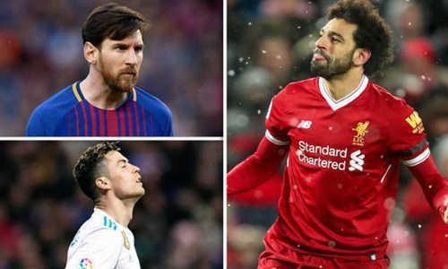 Salah đánh bại Ronaldo về số bàn thắng mùa này