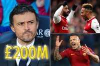 """HLV Enrique muốn bơm 200 triệu bảng """"đại phẫu"""" Arsenal"""