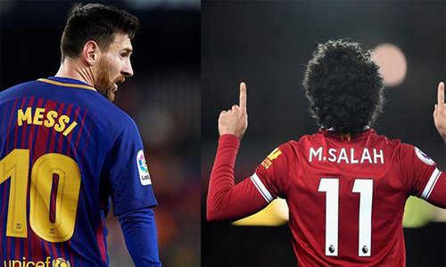 Messi bắt kịp Salah, cùng dẫn đầu cuộc đua đến Giày Vàng