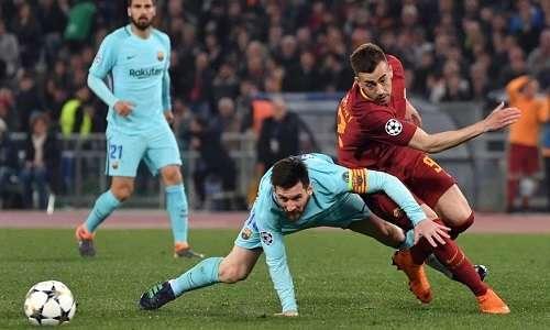 Messi bất lực trước AS Roma đêm 10/4