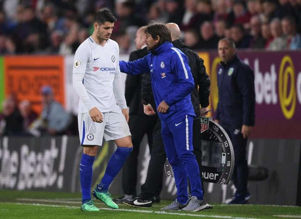 Morata thất vọng khi rời sân