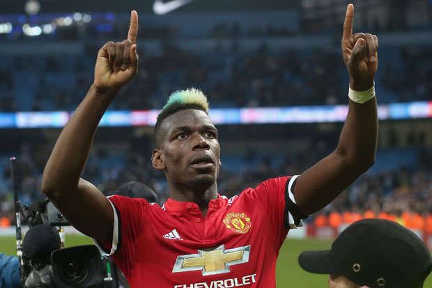 Paul Pogba vừa ghi bàn vào lưới Man City