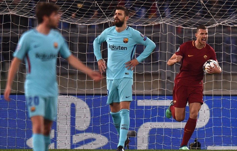 Dzeko mở màn cho cuộc lội ngược dòng vĩ đạicủaRoma trước Barca