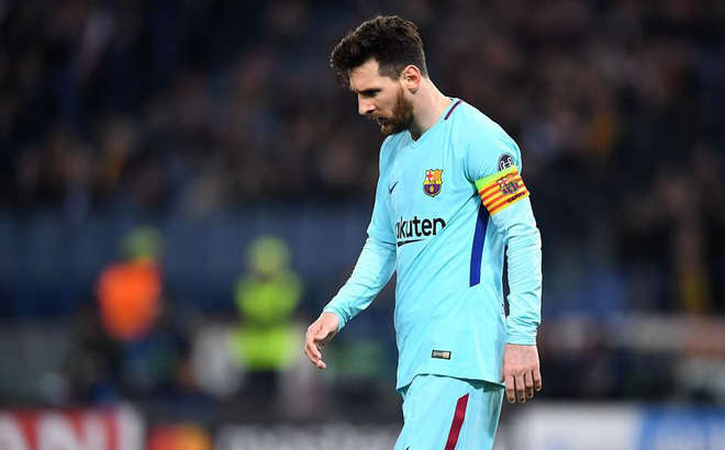 Messi đã có một trận đấu đáng thất vọng trước Roma đêm qua