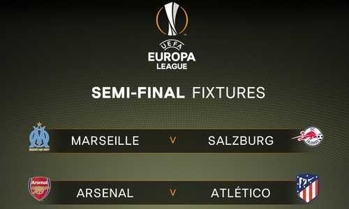 Bốc thăm bán kết Europa League: Arsenal đụng độ Atletico Madrid