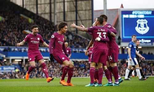 Man City đè bẹp Everton, sẽ vô địch sớm nếu hạ MU tuần sau