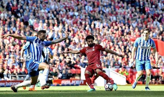 Đánh bại Brighton, Liverpool hiên ngang lấy vé dự C1