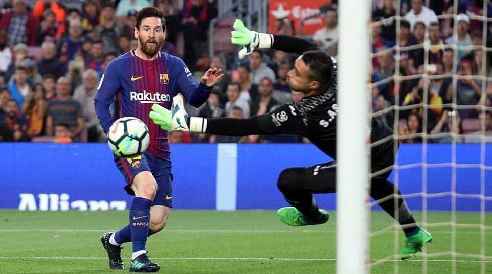 Messi ghi bàn, Dembele lập cú đúp, Barca đại thắng Villarreal