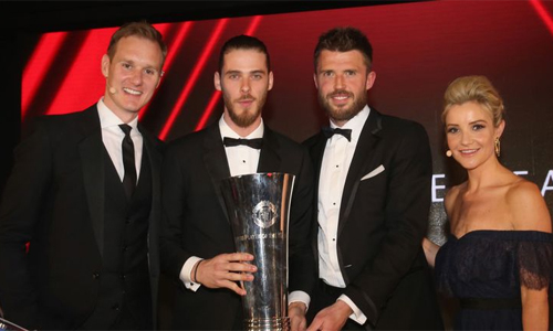 De Gea lần thứ tư nhận giải thưởng Cầu thủ hay nhất mùa của Man Utd.