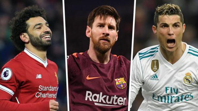 Bộ ba Salah, Messi, C.Ronaldo vô cùng lợi hại