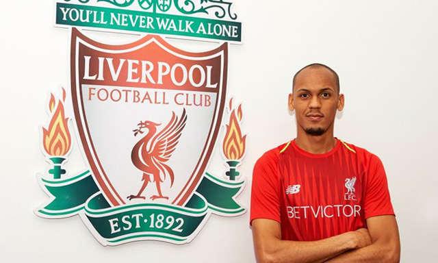 Fabinho gia nhập Liverpool với giá trị chuyển nhượng 39 triệu bảng