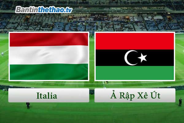 Link Sopcast, link xem trực tiếp live stream Italia Ý vs Ả Rập Xê Út đêm nay 29/5/2018 Giao hữu quốc tế