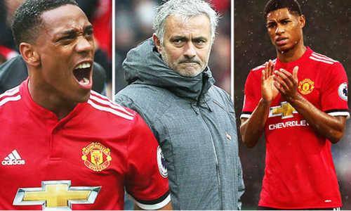 HLV Mourinho ám chỉ Martial và Rashford không đủ sức đá chính