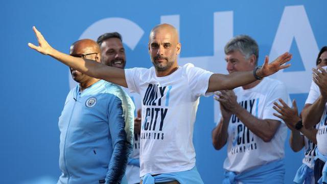 HLV Pep Guardiola là ứng cử viên số 1 cho danh hiệu HLV xuất sắc nhất mùa ở Anh