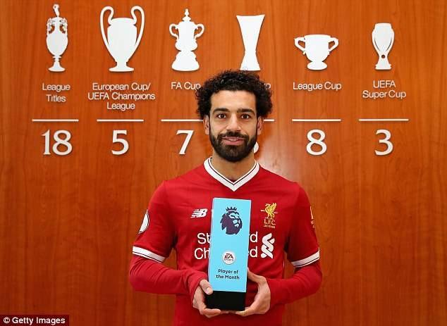 Mohamed Salah đã giành 35 giải thưởng cá nhân ở mùa giải này