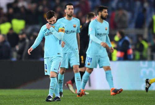 Barca sẽ không bao giờ quên được thất bại trước Roma ở Bán kết Champions League năm nay