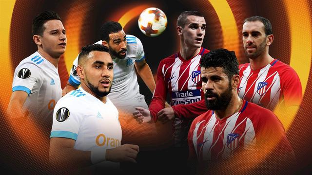 Atletico Madrid được đánh giá cao hơn Marseille ở trận chung kết Europa League