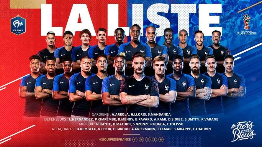23 gương mặt tuyển Pháp sẽ bay sang Nga