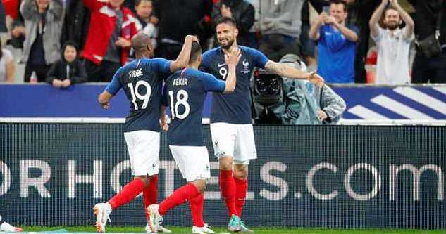 Bồ chia điểm trong ngày vắng CR7, Pháp thắng dễ Ireland