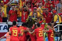 Đánh bại tuyển Anh, Bỉ toàn thắng vòng bảng