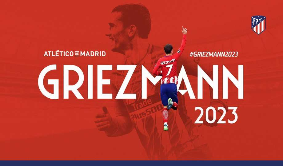 Griezmann kiếm bộn tiền khi gia hạn với Atletico
