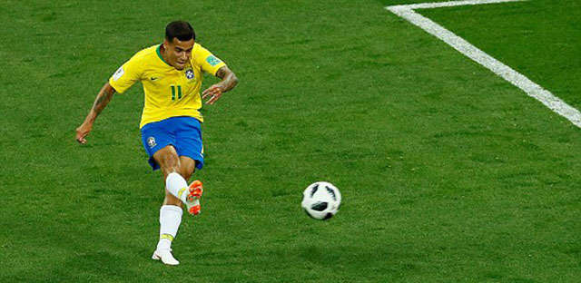 Coutinho mở tỉ số cho Brazil