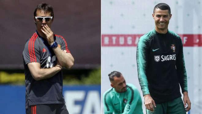 Lopetegui đột ngột trở thành thầy Ronaldo ngay trước trận Tây Ban Nha chiến Bồ Đào Nha