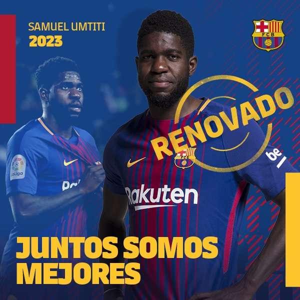 Umtiti gia hạn hợp đồng với Barca đến 2023